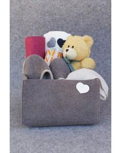 Box pratico in feltro naturale dal formato grande, perfetto per contenere piccoli e grandi oggetti