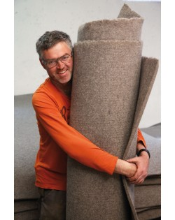 Our Haunold fulled felt is warm, soft, breathable and easy to clean
