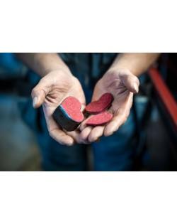 Herzdekorationen gestanzt aus dem Haunold Wollfilz