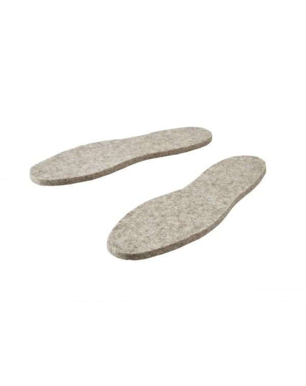 Haunold Einlegesohlen für Stiefel aus reiner Wolle, ca. 8 mm dick in grau