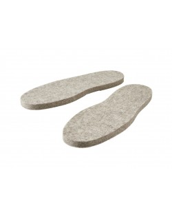 Haunold felt soles of 100% wool for do-it-yourself slippers, natural gray