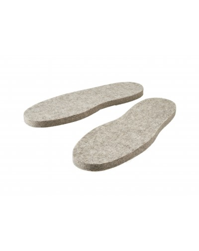 Le suole per pantofole in feltro Haunold di pura lana vergine, grigio naturale