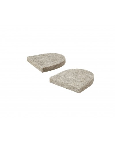Tacchi per pantofole in feltro Haunold grigio naturale