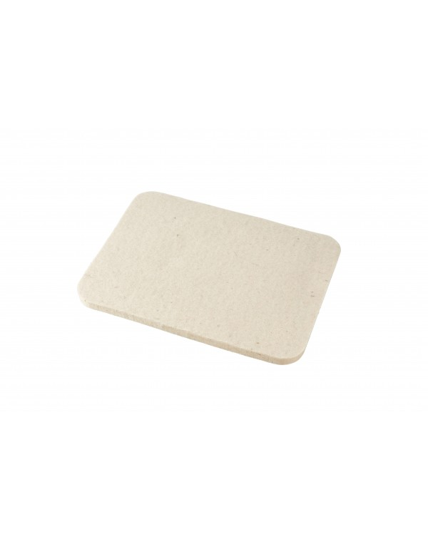 Seat pad Jaga of Haunold fulled felt, approx. 1 cm thick, natural white