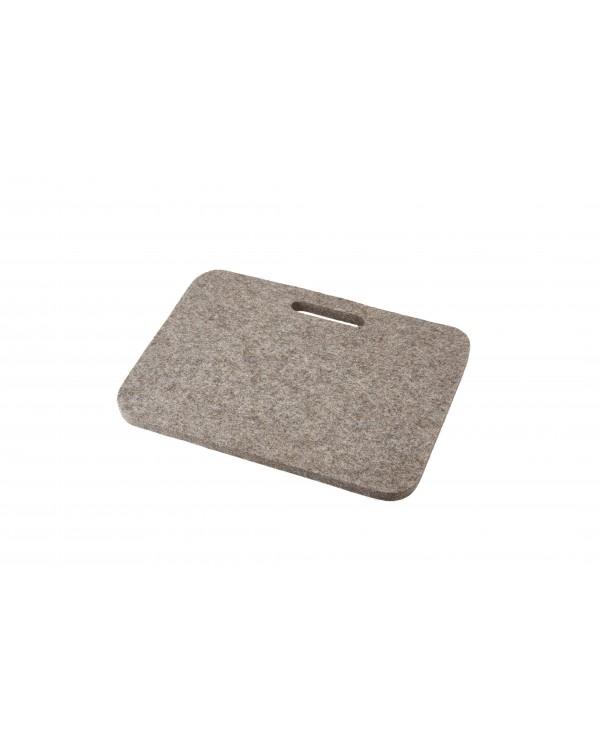 Cusino Jaga con maniglia in feltro follato Haunold, spesso ca. 1 cm, grigio naturale