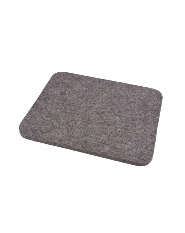 Seat pad Jaga big of Haunold fulled felt, approx. 1 cm thick, natural gray