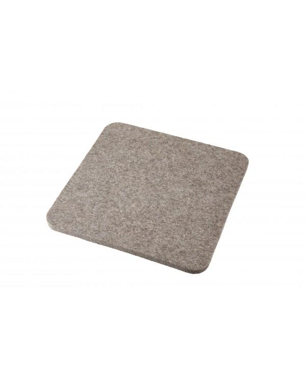 Haunold Sitzkissen Luxus ohne Haltegriff aus Walkfilz, ca. 1 cm dick, naturgrau