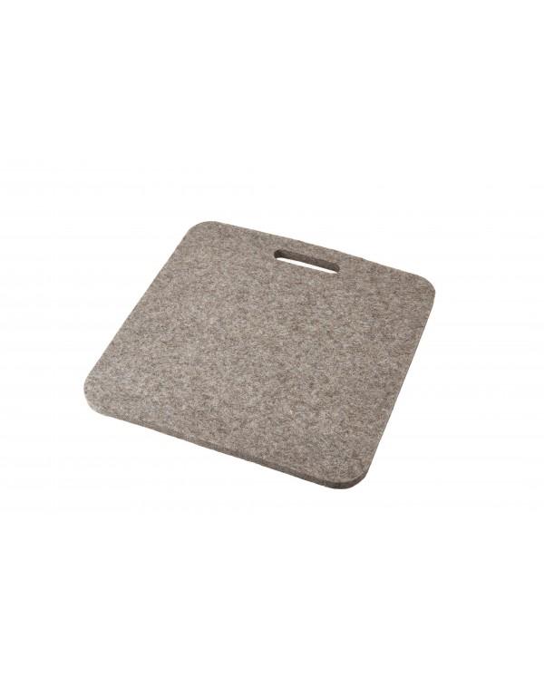 Cusino Luxus con maniglia in feltro follato Haunold, spesso ca. 1 cm, grigio naturale