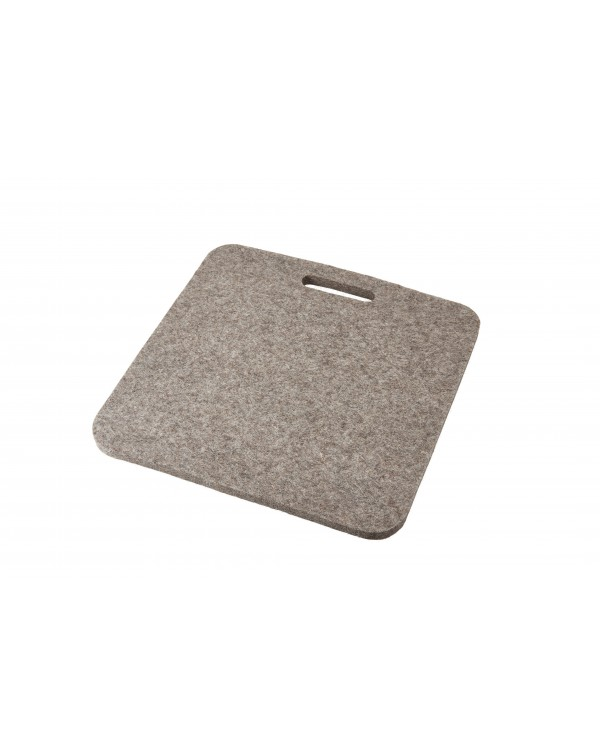Haunold Sitzkissen Luxus mit Haltegriff aus Walkfilz, ca. 1 cm dick, naturgrau