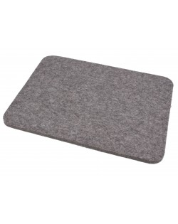 Seat pad Relax of Haunold fulled felt , approx. 1 cm thick, natural gray