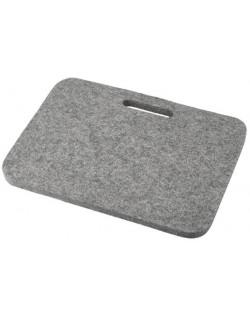 Cusino Relax con maniglia in feltro follato Haunold, spesso ca. 1 cm, grigio naturale