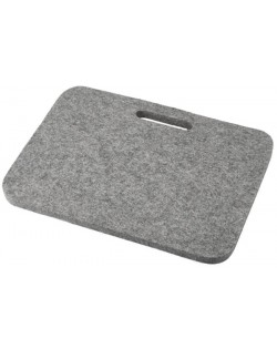 Haunold Sitzkissen Relax mit Haltegriff aus Walkfilz, ca. 1 cm dick, naturgrau