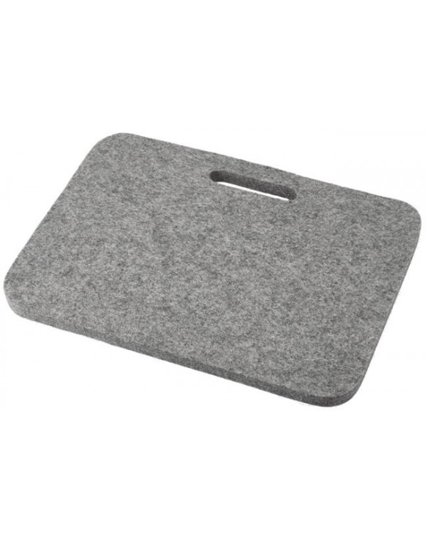 Seat pad Relax with handle, of Haunold fulled felt , approx. 1 cm thick, natural gray
