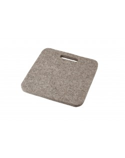 Seat pad Mini with handle, of Haunold fulled felt, approx. 1 cm thick, natural gray