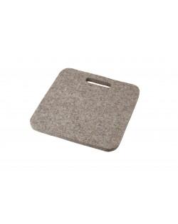 Haunold Sitzkissen Mini mit Haltegriff aus Walkfilz, ca. 1 cm dick, naturgrau