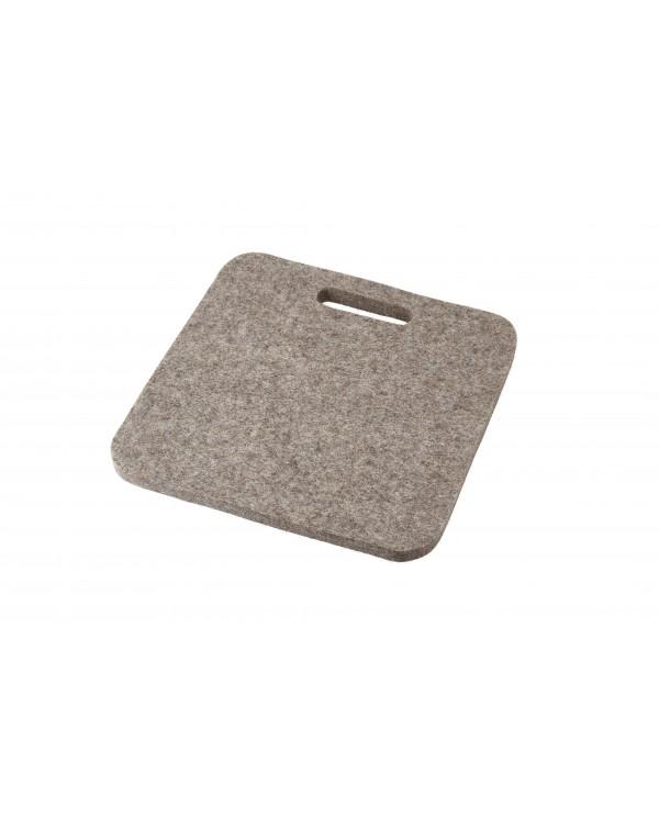 Cusino Mini con maniglia in feltro follato Haunold, spesso ca. 1 cm, grigio naturale