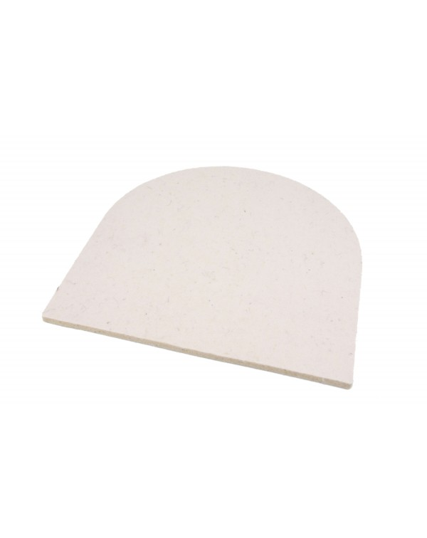Seat pad Semi-circular of Haunold fulled felt, approx. 1 cm thick, natural white