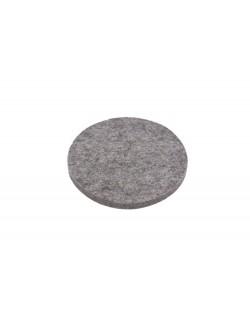 Cusino tondo in feltro follato Haunold, spesso ca. 1 cm, grigio naturale