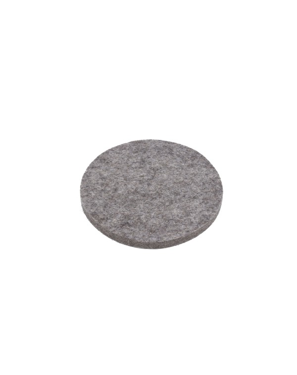 Seat pad round of Haunold fulled felt , approx. 1 cm thick, natural gray
