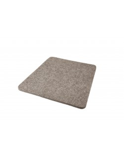 Seat pad Trapeze of Haunold fulled felt , approx. 1 cm thick, natural gray