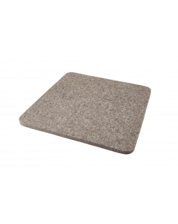 Cusino Trapezio in feltro follato Haunold, spesso ca. 1 cm, grigio naturale