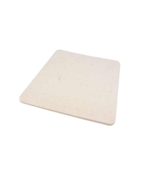 Seat pad Trapeze big of Haunold fulled felt , approx. 1 cm thick, natural white