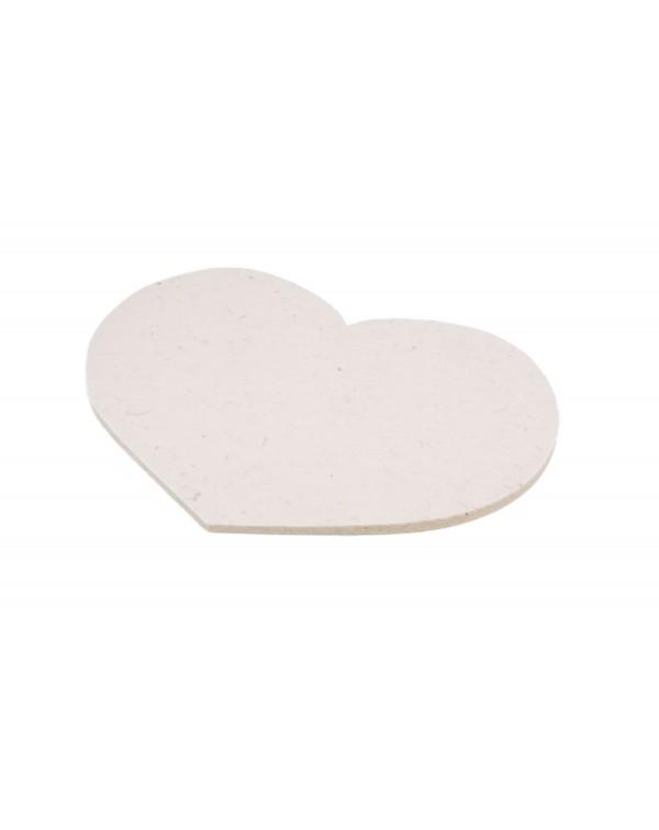 Haunold Sitzkissen Herz ohne Haltegriff aus Walkfilz, ca. 1 cm dick, naturweiß