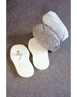 Haunold felt soles of 100% natural wool for do-it-yourself slippers