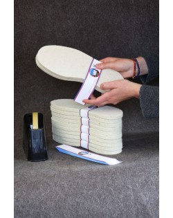 Haunold soles made of wool from the Tyrolean mountain sheep, durable and easy-care