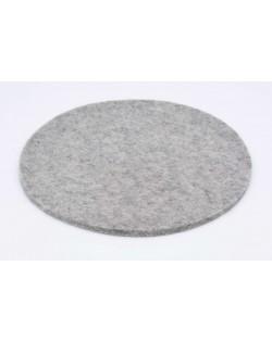 Haunold felt coaster round of fine merino wool, gray, approx. 5 mm thick