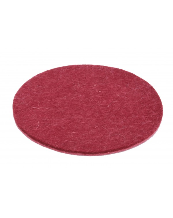 Haunold felt coaster round of fine merino wool, red, approx. 5 mm thick