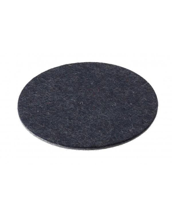 Haunold felt coaster round of fine merino wool, blue, approx. 5 mm thick