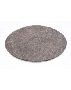 Sottobicchieri, sottopentola, sottopiatti circolare in pura lana merinos, marrone alto 5 mm