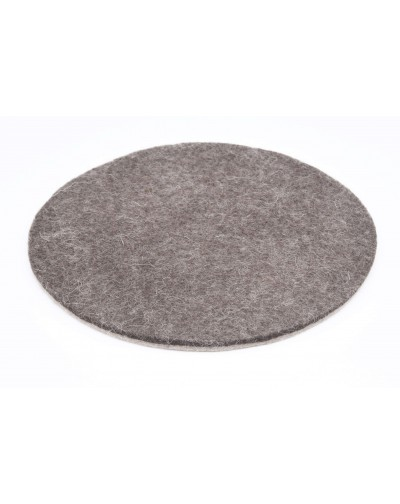 Haunold felt coaster round of fine merino wool, brown, approx. 5 mm thick