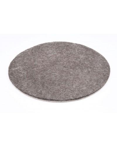 Haunold Untersetzer rund aus feiner Merinowolle, braun dünn 5 mm