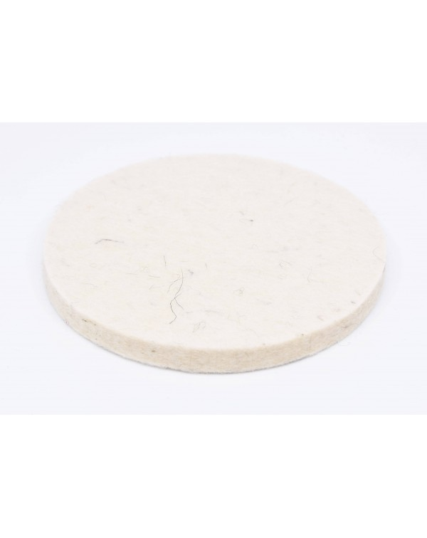 Haunold felt coaster round of Tyrolean mountain sheep wool, natural white, approx. 10-12 mm thick