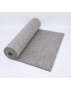 Haunold table runner of merino wool felt, gray