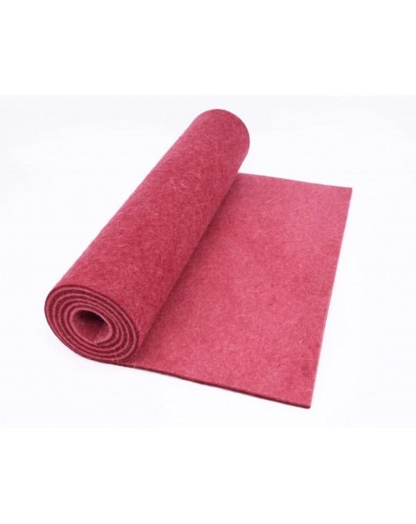 Haunold table runner of merino wool felt, red