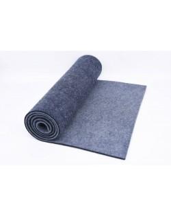 Haunold table runner of merino wool felt, blue