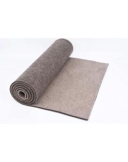 Haunold table runner of merino wool felt, brown