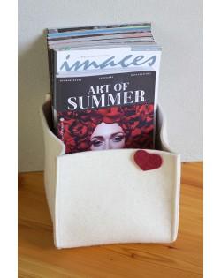 Dekorativer Filzkorb im perfekten Format für das Aufbewahren und Sortieren Ihrer Lieblingszeitschriften