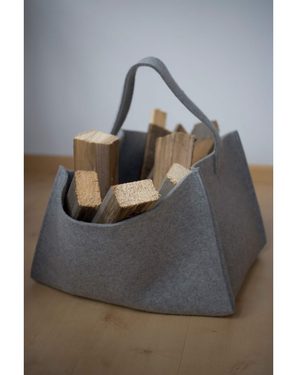 Large basket made of Haunold fulled felt for firewood, magazines, toys and more