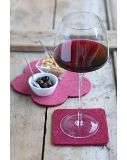 Haunold Glasuntersetzer aus feiner Merinowolle, langlebig, formstabil und leicht zu reinigen