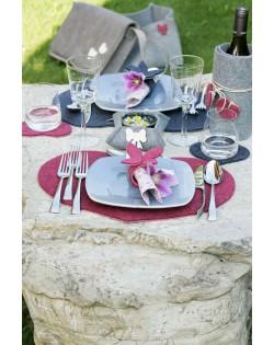 Haunold Glasuntersetzer Herz aus feiner Merinowolle kombinierbar mit unseren Tischsets
