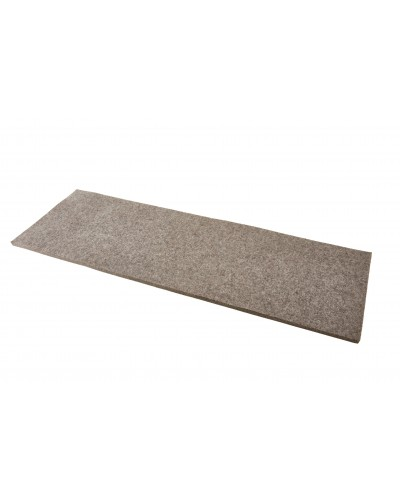 Custom-made bench pads and seat pads of Haunold fulled felt, approx. 1 cm thick, natural gray