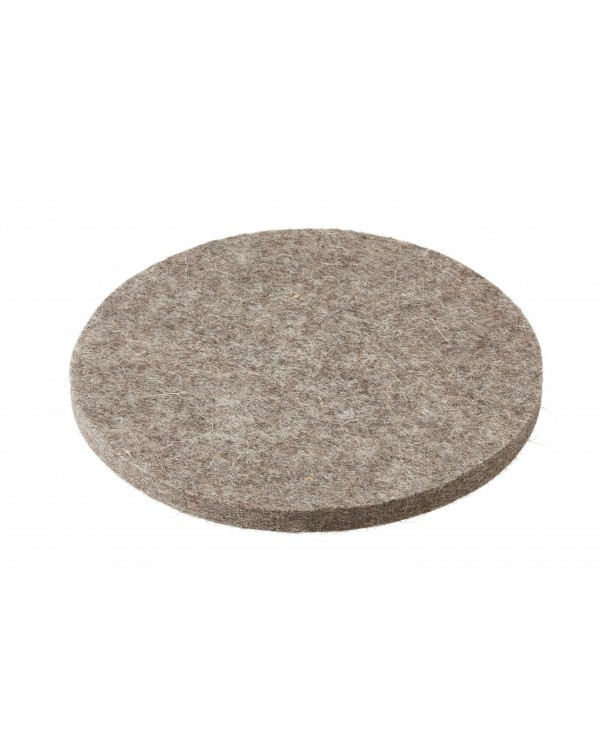 Haunold felt coaster round of Tyrolean mountain sheep wool, natural gray, approx. 10-12 mm thick
