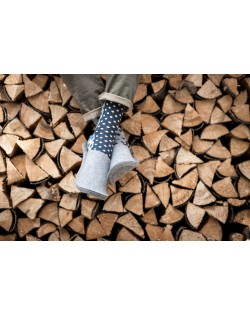 Pantofole per gli ospiti in feltro Haunold, in pura lana vergine, grigio