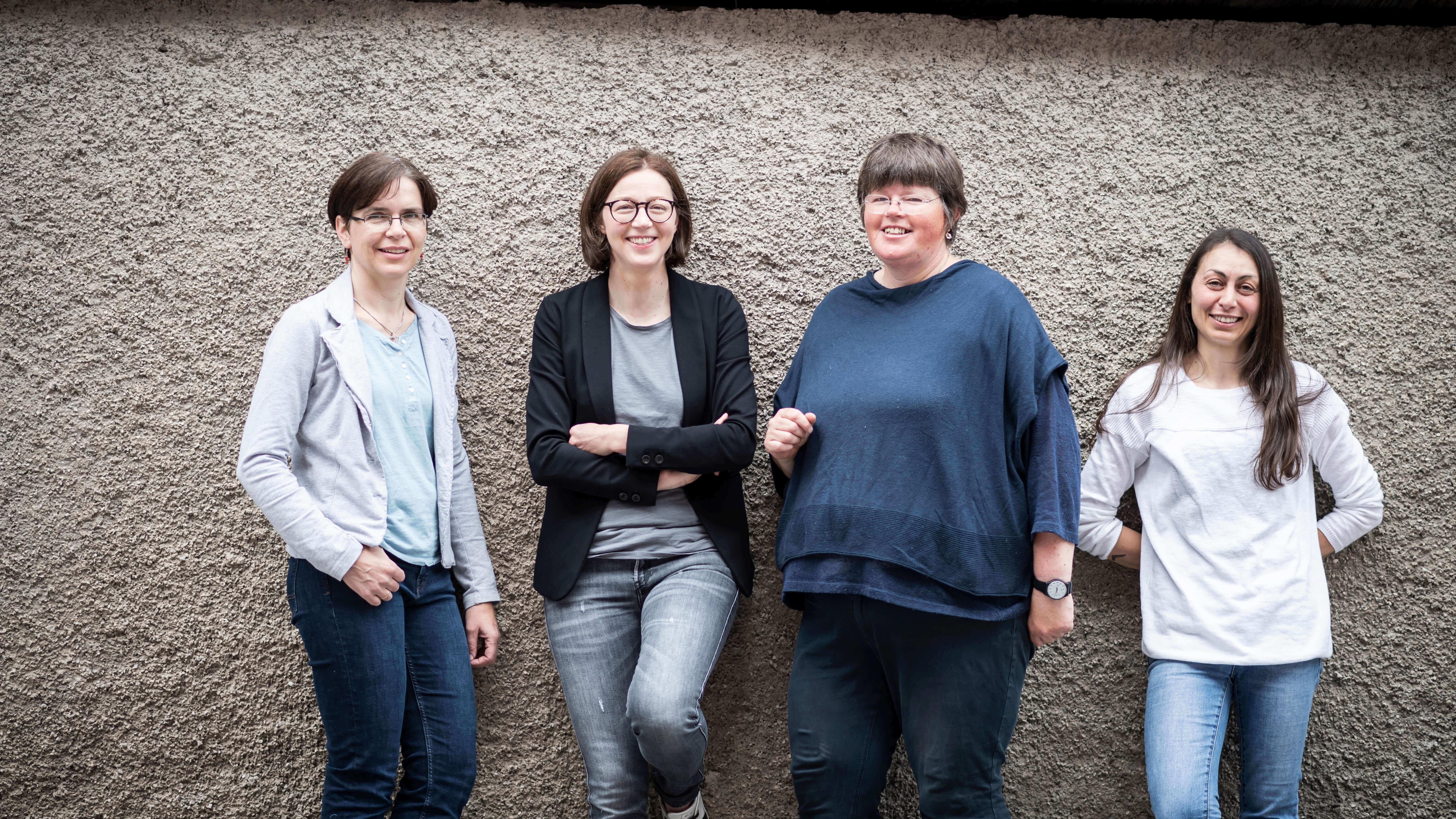Das Team vom Hutmgeschäft Zacher in Innichen:  Doris, Christina, Hedwig und Miriam
